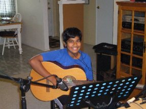 Young Guitarist Recording CD at our Guitar Studio in Poway