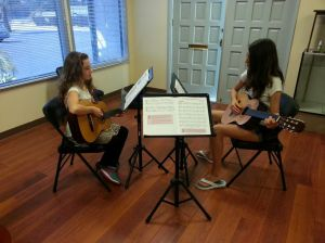 Guitar Lessons, Two kids, group guitar in Poway, serving Scripps Ranch, RB, PQ