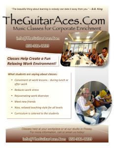 The Guitar Aces Poway, Instruction for both Adults and Children